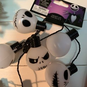 🎄Disney TNBC lightup Jack Skellington necklace🎄